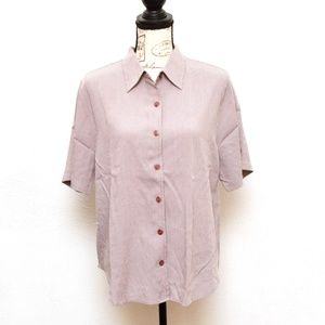 C.J. Banks Blouse Top Womens Size X Purple Buttons